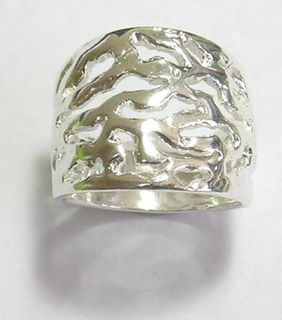 STERLING SILVER CONTEMPORAR RING