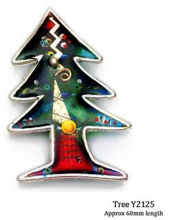Yossi Brooch Handcrafted Christmas Tree