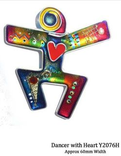 Yossi Brooch Dancer with Heart
