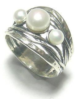 Multi Pearl Sterling Silver Ring