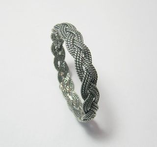 Textured Braid Sterling Bangle