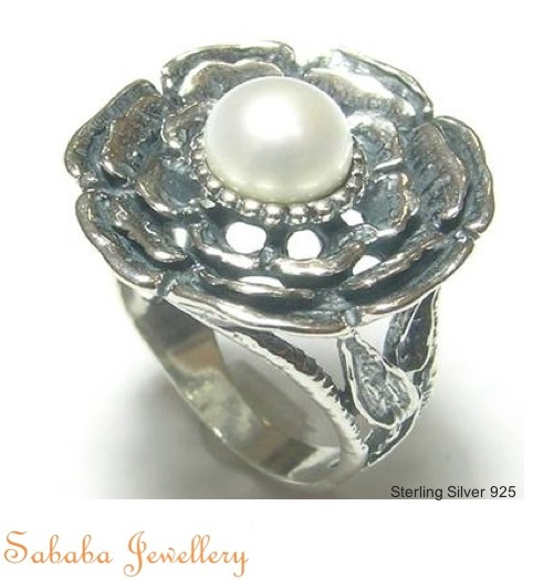 Sterling Silver with Pearl