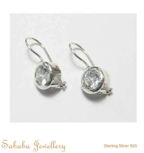 Zircon Sterling Silver 925 Earrings