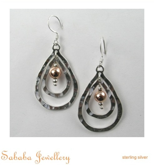 Gold or Rose Gold Silver Combination Earring